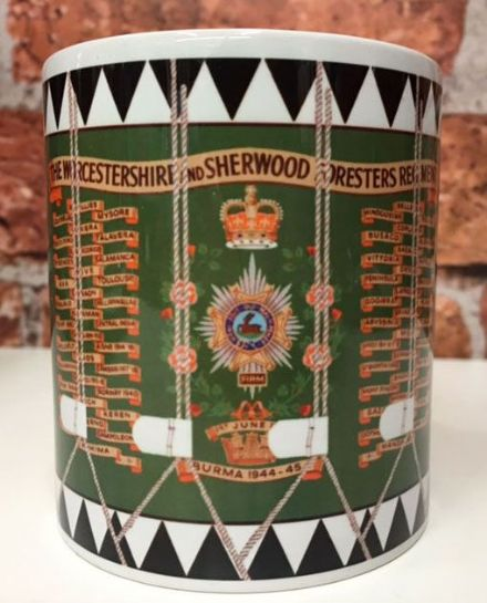 The Worcestershire & Sherwood Foresters Regiment Drum Mug
